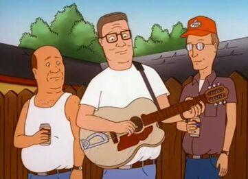 Hank playing his Guitar