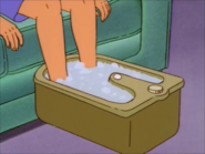 Peggy soaks her Feet