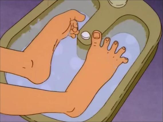 Reife Footbath Footjob