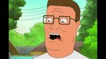 Hank screaming