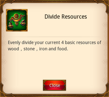 Divide Resources