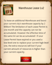 Warehouse Lease Level 2