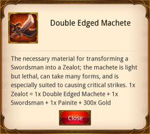 Double Edged Machete