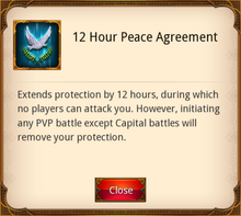 12 Hour Peace Agreement