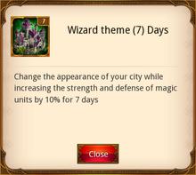 Wizard Theme 7 Days