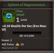Kr sphere of regeneration