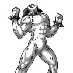 Dalmatiman coloured artwork from Kinnikuman Muscle Shot