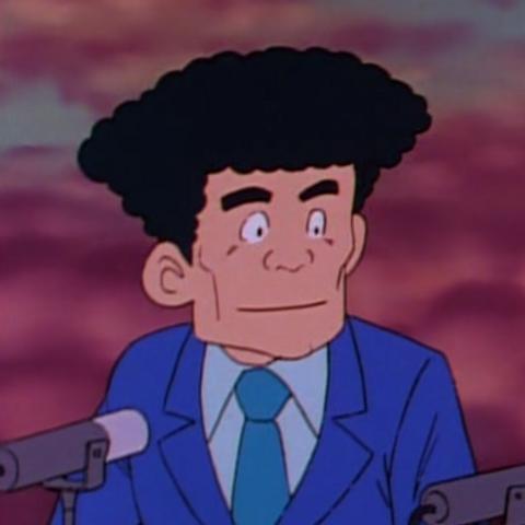 Yoshigai in the anime