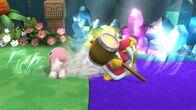 Kirby y el Rey Dedede usando Tragar