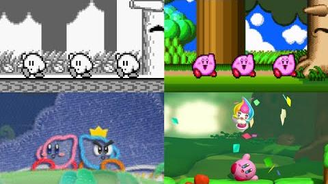 Evolution of Kirby's Victory Dances