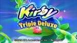 Kirby Triple Deluxe Titelbildschirm