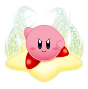 Kirby Riding a Warp Star
