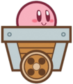 KCC Kirby Minecart artwork