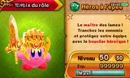 Description Héros à l'épée