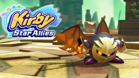 Kirby Star Allies Meta Knight Footage