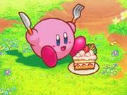 Kirby y su querida tarta