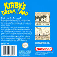Kirby's Dream Land covertura