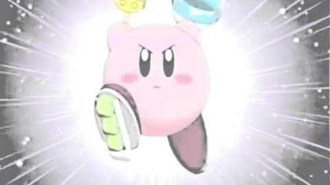 Kirby transformándose en Pintor en Kirby Right Back At Ya!