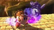 Kirby Ganondorf golpeando a Wolf