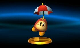 SSB3DS Parasol Waddle Dee Trophy