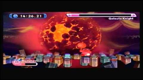 Kirby's Return to Dream Land - Galacta Knight Battle