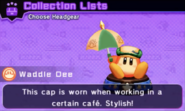 Café Cap Headgear