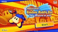 Bandana Waddle Dee Intro Menu