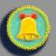 幸福铃铛徽章01 毛线卡比