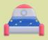 火箭床家具01 毛线卡比