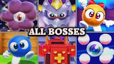 Kirby's Blowout Blast - All Boss Fights (No Damage)