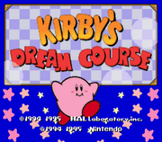 Kirby's Dream Course Inicio