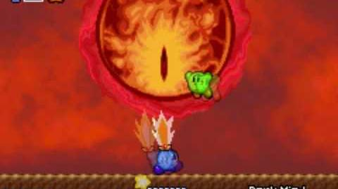 Kirby and The Amazing Mirror Boss Dark Meta Knight, Dark Mind, final boss ending