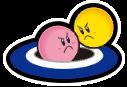 Kirby y Keeby Sticker
