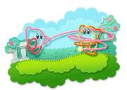 Garn-Kirby und Waddle Dee