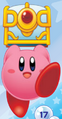 Kirby Holding a Large Treasure Chest