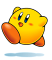 Yellow Kirby Artwork
