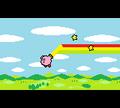 Kirby malt den Regenbogen
