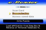 Kirby Slide eReader Menu
