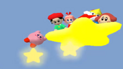 Kirby Leaving On Warp Star