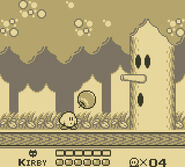 Kirbys dream land gbc screenshot2