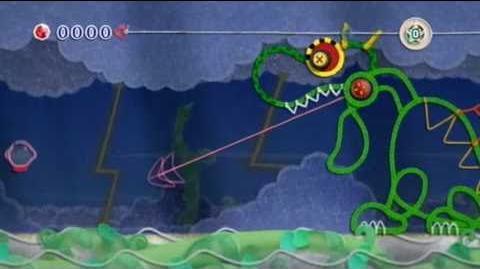 Kirby's Epic Yarn - Boss 1 Fangora