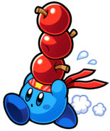 KBR Blue Fighter Kirby Artwork