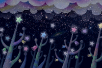 Bubbly Clouds Background 3