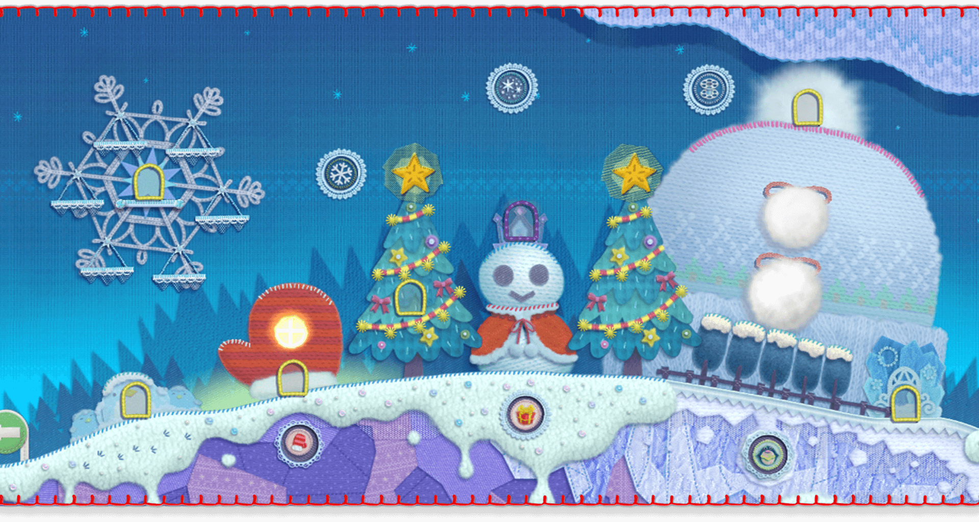 Image result for kirby's extra epic yarn snow land cabin