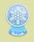 雪花玻璃球家具01 毛线卡比