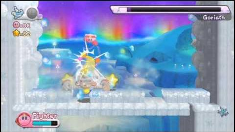 Kirby's Return to Dreamland - World 4 Boss Goriath