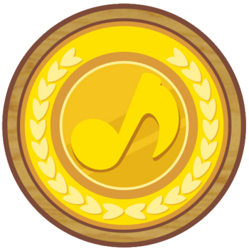 Gold Musical Coin