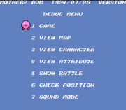 EarthBound Debug Menu