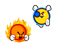 Mr Shine & Mr Bright sprites