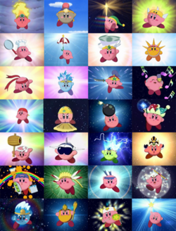 Kirby's 29 abilities